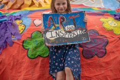 Nola - our youngest and most energetic supporter :-)