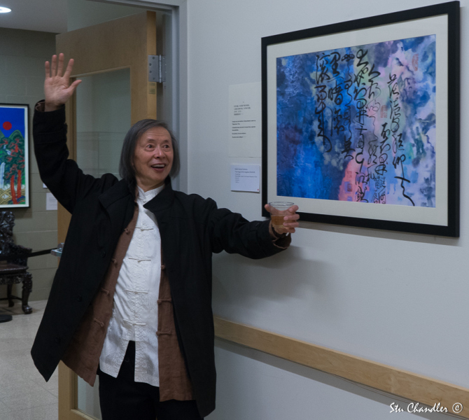 Huang Xiang happy about one of his works